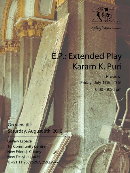 EP : Extended Play by Karam K. Puri at Gallery Espace, New Delhi