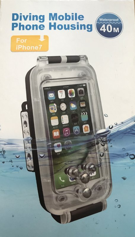 Testing the underwater housing for iPhones