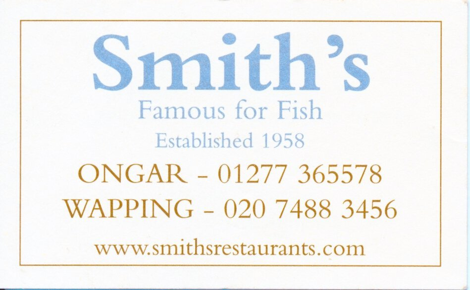 Eating at Smith's in Wapping