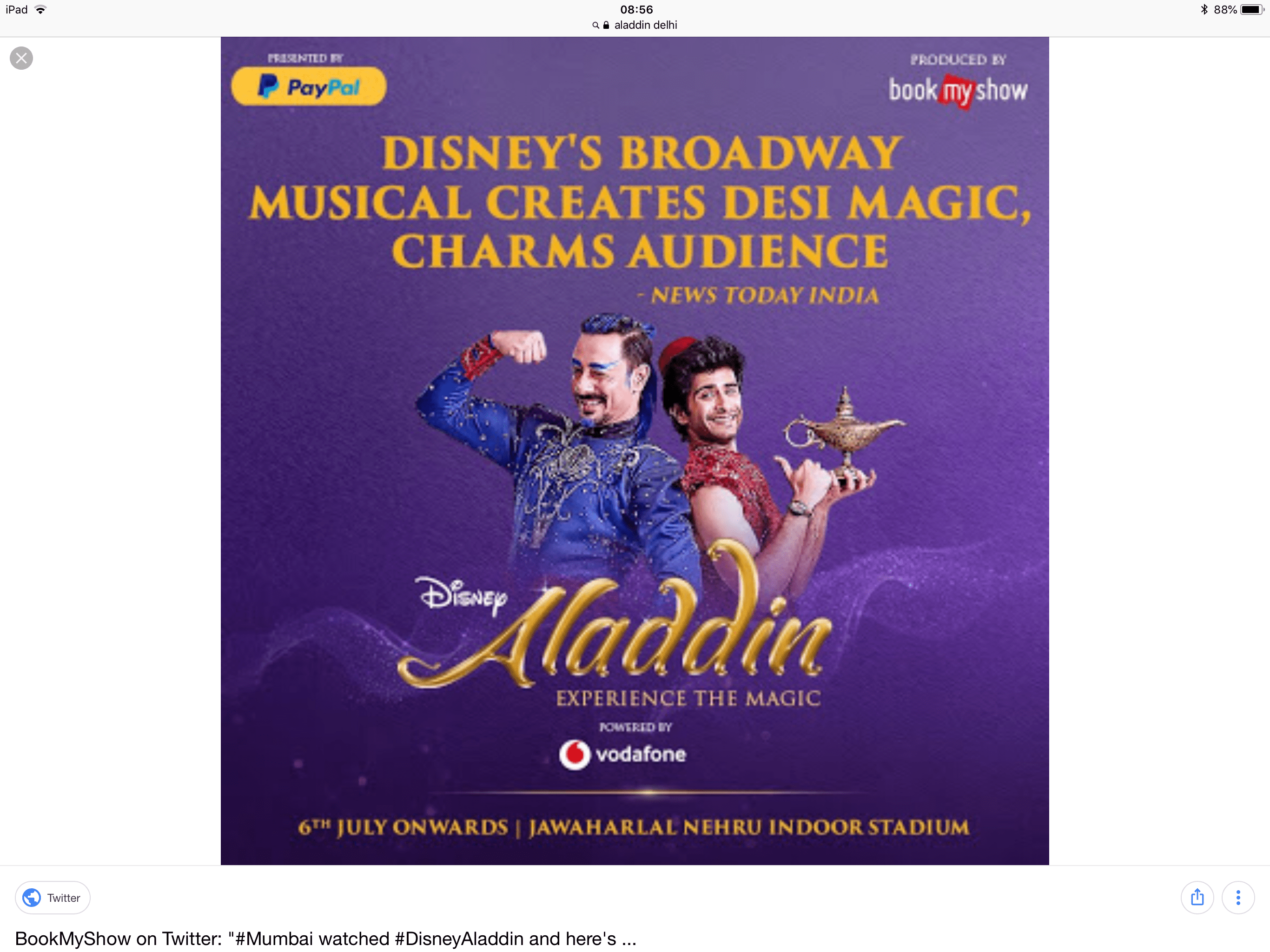 Aladdin in New Delhi