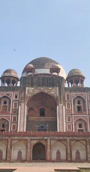 Visiting Rahim's Tomb in New Delhi